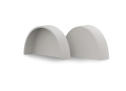 white end cap