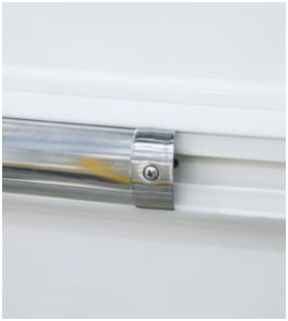 Bino-X: install rub rail - A joint cap is required in between each 3 meter bar